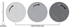 Polarized Inner Cabin Window (Rotating Pane with Knob)