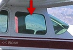 Rear Side Window (L or R) - Cessna 182 (1962-1964)