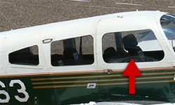 Cabin Door Window (Right) - Piper PA-28