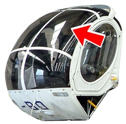 Hughes Helicopter 269-300 Series - Middle Windshield (L or R)