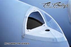 RV-10 Clear Wing tip lenses (pair)